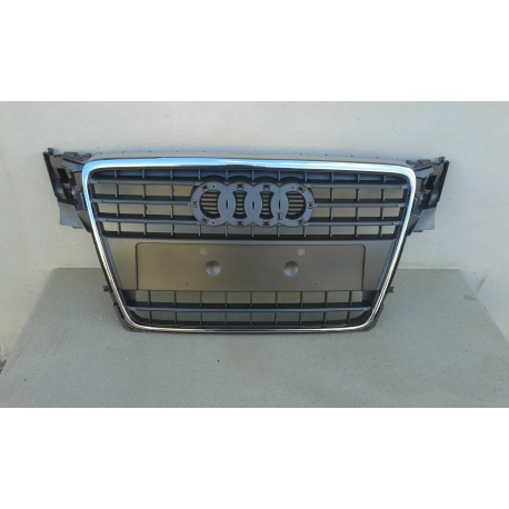 grille calandre pour audi a4 b8 8k 2007 2011 pour radiateur complete chrome ebay. Black Bedroom Furniture Sets. Home Design Ideas